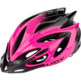 Rudy Project Rush Fietshelm, pink fluo/black shiny